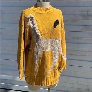 Vintage kitsch giraffe sweater